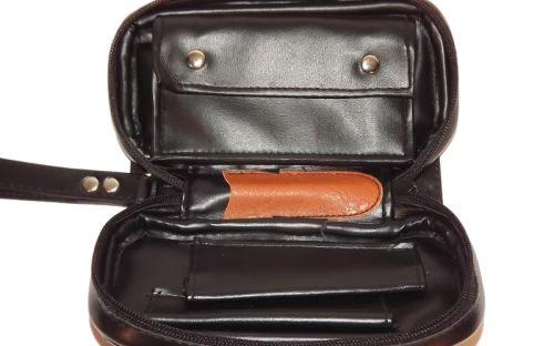 Pipatáska 2 pipának - fekete színű, Angelo (19x11cm)