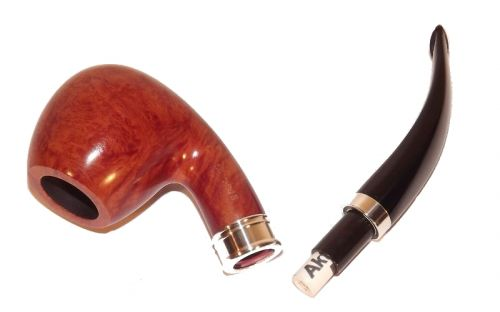 Brebbia pipa Sterling Ambra 834 Bent Apple