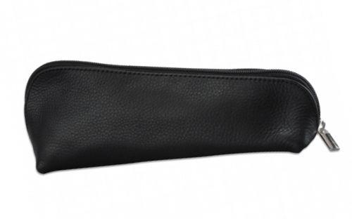 Pipatáska 1 pipának - fekete bőr (17x6cm)