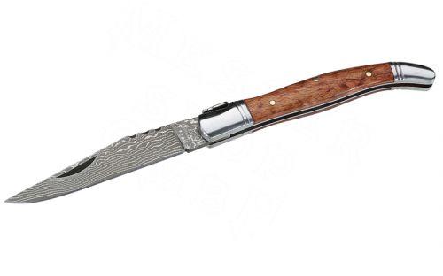 Zsebkés - 71 rétegű acél penge, birsfa markolattal, Herbertz