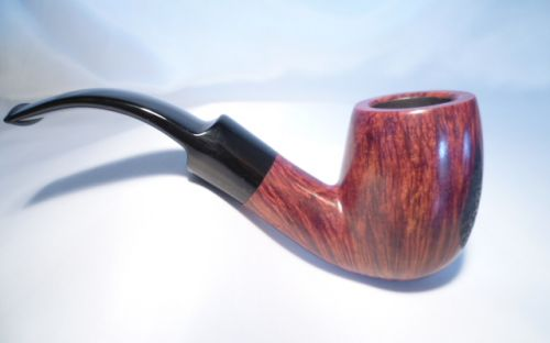 Bjarne pipa Red Black Rustic Bent