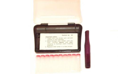 Denicotea lila cigaretta szipka 78mm +10 db szűrő