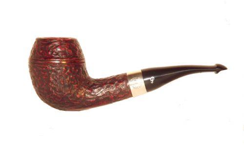Peterson pipa Sherlock Holmes Deerstalker P-lip Rustic Bent Rhodesian