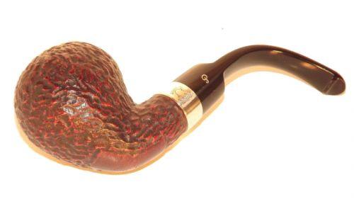 Peterson pipa Sherlock Holmes Lestrade Rustic P-lip Bent Apple