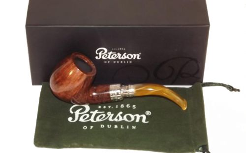 Peterson pipa Spigot Silver 68 Flame Grain F-lip