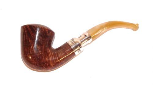 Peterson pipa Spigot Silver B10 Flame Grain F-lip