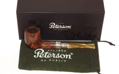 Peterson pipa Spigot Silver 106 Flame Grain F-lip