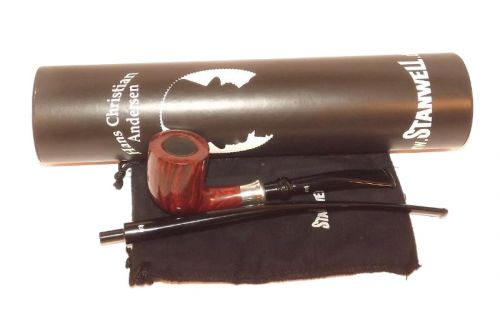 Stanwell pipa H. C. Andersen 3 Brown Polish No Filter