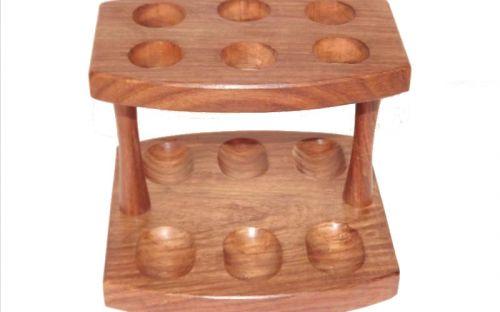 Szezámfa pipatartó állvány 6 pipa részére