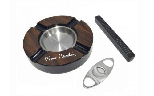 Humidor 30 szál szivarnak, cédrusfa szivartartó, üvegtetős, barna + AJÁNDÉK szett! - Pierre Cardin