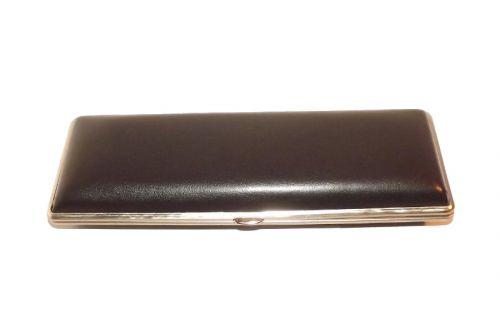 Szivartok - 3 szivar részére, fekete, műbőr (19cm)