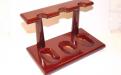 Pipatartó állvány 3 pipa részére - lakkozott