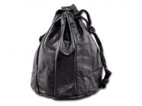 Pipadohány tartó - fekete bőr