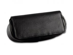 Pipatáska 1 pipának - fekete bőr (18x8x5,5cm)