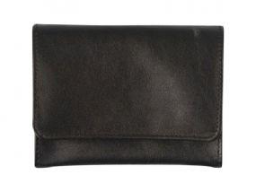 Pipadohány tartó - fekete bőr (11x7,5cm)