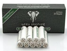 Pipafilter aktivszenes (9mm) - 20db, White Elephant Superflow