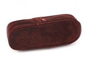 Pipatáska 1 pipának - szarvasbőr (18,5x6x4cm)