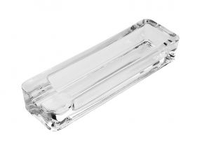 Szivar hamutartó - kristályüveg, hosszúkás (20x6cm)