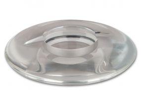 Szivar hamutartó - kristályüveg, kerek (20cm)