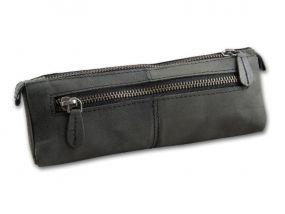 Pipatáska 1 pipának - fekete bőr (20x6x6cm)