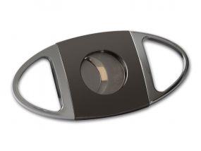 Passatore szivarvágó - sötét króm (24mm)