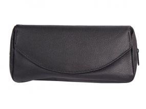 Pipatáska 1 pipának - fekete bőr (17,5x8,5x7,5cm)