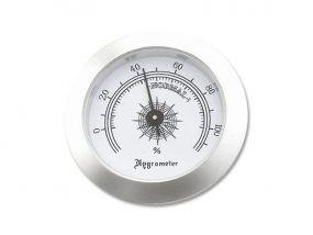 Humidor hygrométer - ezüst színű (50mm)