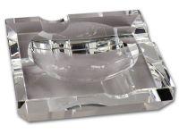 Szivar hamutartó - kristályüveg, négyzet (15x15cm)